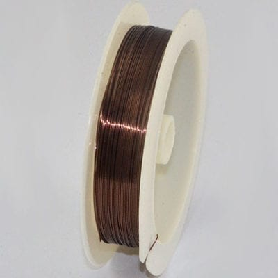 10 Meters Brown Copper Wire Spool - (0.4mm) 2