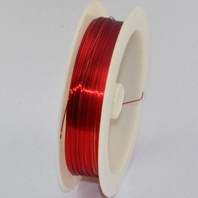 10 Meters Red Copper Wire Spool - (0.4mm) 9