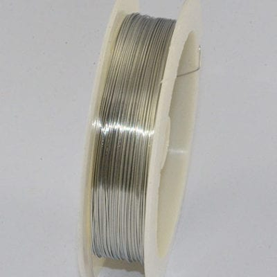 10 Meters Silver Copper Wire Spool - (0.4mm) 10