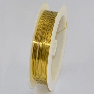 10 Meters Gold Copper Wire Spool - (0.4mm) 4