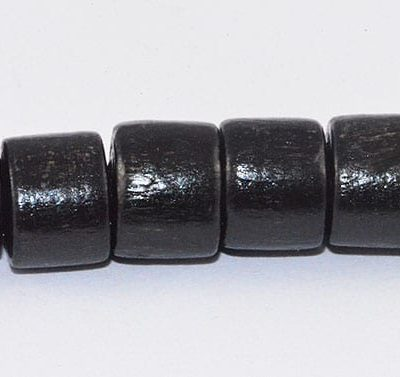40 Stunning Black Tube Natural Wood Beads - (6mmx7mm) 19