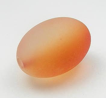 Lovely Two Tone Orange Oval Acrylic Bead - (28mmx12mm) 1
