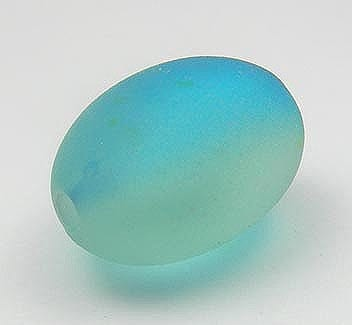Lovely Two Shaded Turquoise Oval Acrylic Bead - (28mmx12mm) 1