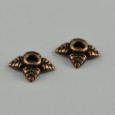 20 Round Floral Copper Metal Bead Cap (6mm) - M16 19