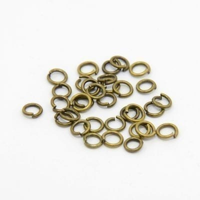 100 Bronze Plated Jump Rings - (4mm) 1