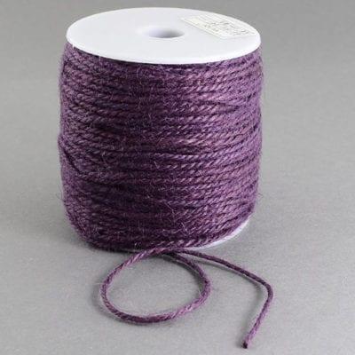 3 Meters Dark Purple Natural Hemp String Cord - (2mm) 4