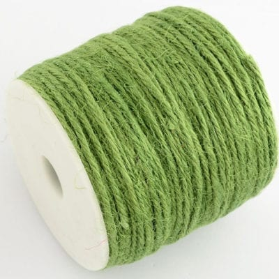 3 Meters Light Green Natural Hemp String Cord - (2mm) 7