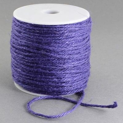 3 Meters Purple Natural Hemp String Cord - (2mm) 10