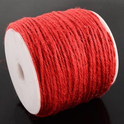 3 Meters Red Natural Hemp String Cord - (2mm) 11