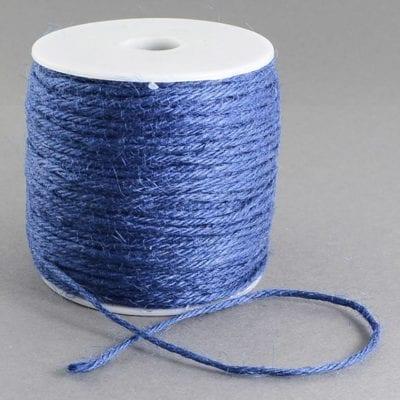 3 Meters Dark Blue Natural Hemp String Cord - (2mm) 2