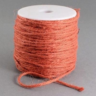 3 Meters Orange Natural Hemp String Cord - (2mm) 8