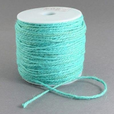 3 Meters Turquoise Natural Hemp String Cord - (2mm) 12