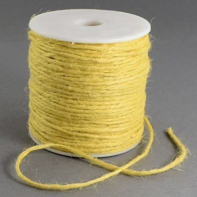 3 Meters Yellow Natural Hemp String Cord - (2mm) 13