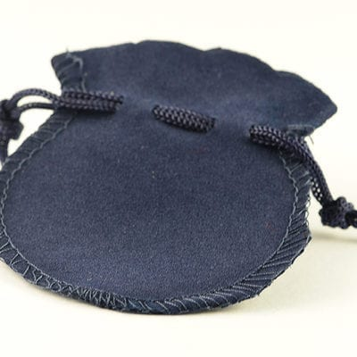 4 Adorable Little Navy Blue Velvet Gift Bags/Pouches - 75mmx68mm 5