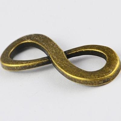 1 Charming High Qulaity Infinity Metal Bronze Charm Beads(34mm) - M14 2