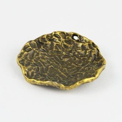 1 High Qulaity Round Gorgeous Metal Bronze Charm Bead - 28mm 4
