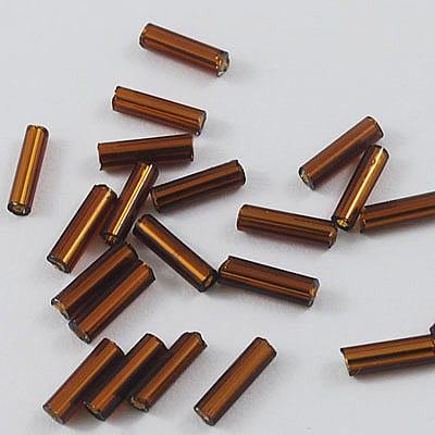 "3"" Dark Saddle Brown Bugle Seed Beads - (10 grams) 7"