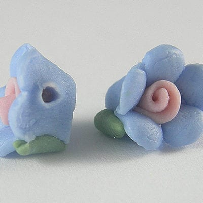 Amazing Hand Made Flower Ceramic Bead - (7mmx10mm) 11