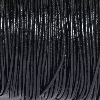 1 Meter Black Leather Cord (1.5mm) 2
