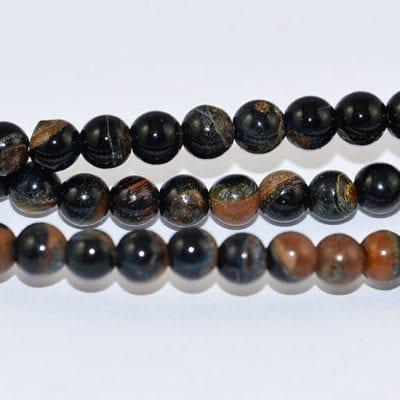 Black Stone Semi Precious Gemstones Beads Strand - (4mm) 1