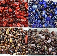 Mix Designer Glass Beads In Four Colours !!! 5