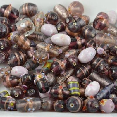 Amethyst & Purple Designer Mix Glass Beads - (50 grams) 20