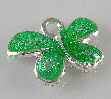 Dazzling New Light Green Enamel Alloy Butterfly Charm - (22mmX19 5