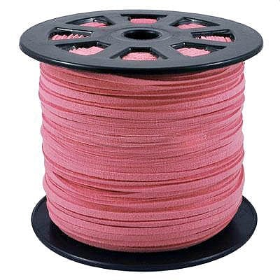 1 Meter Pink Faux Suede Flat Chord - (3mm) 11