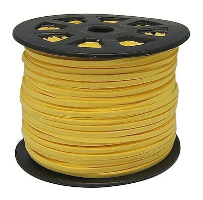 1 Meter Yellow Faux Suede Flat Chord - (3mm) 14
