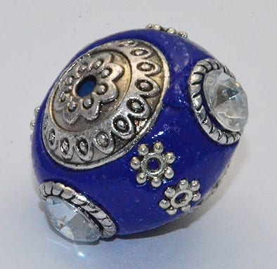 Dark Blue Stylish Kashmiri Beads