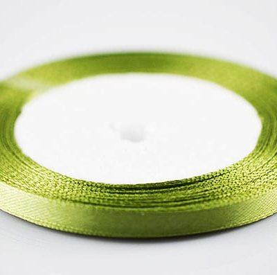 Bright Fresh Olive Green Colour Satin Ribbon Spool- (22 meters) 3