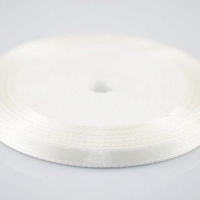 Brilliant New Soft White Colour Satin Ribbon Spool - (22 meters) 8