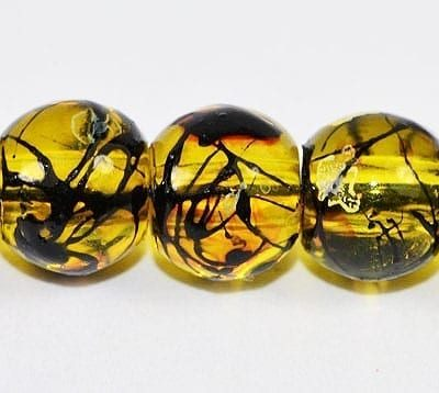 20 Topaz Fancy Glass Beads (6mm) 3