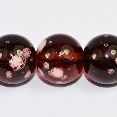 20 Dark Amethyst Fancy Glass Beads (6mm) 3