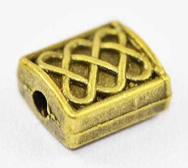 Antique Bronze Look Metal Bead - (7mmx6mm) 11