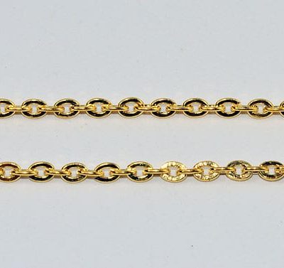 Delicate Gold Plated Metal Jewellery Chain - (3mmx2mm) - 1M 2