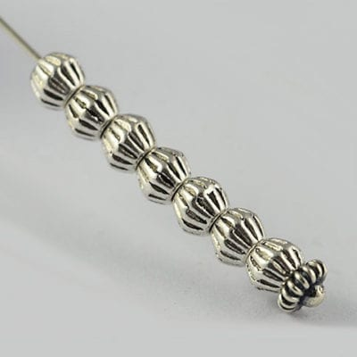 20 Bicone Silver Plated Metal Spacer Beads(4mm) - M32 6