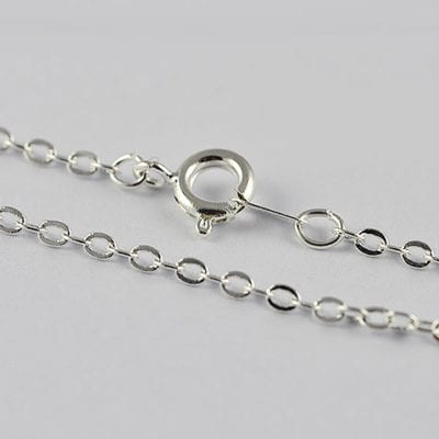 Brass High Quality Silver Complete Metal Chain - (45cm) 2