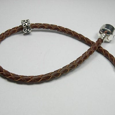 Braided Leather Bracelets Fits European Beads (21cm) 14