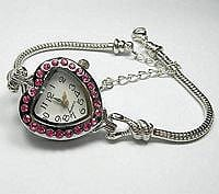 Decorative Pink Stones Collector's Watch 2