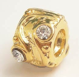 1 X European Style Gold Plated Bead (Model 03) 12