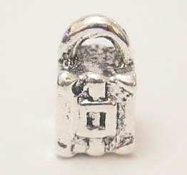 1 X European Style Silver Plated Beads (Model 12) 14