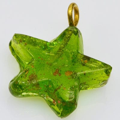 1 Light Green New Season Star Glass Pendant - (20mm) 9