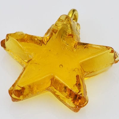 1 Topaz New Season Star Glass Pendant - (20mm) 15