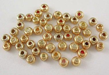 12'0 Lustre Light Gold Glass Seed Beads - (10 grams Pack) 7