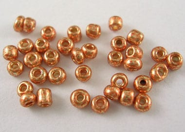 12'0 Lustre Salmon Glass Seed Beads - (10 grams Pack) 12