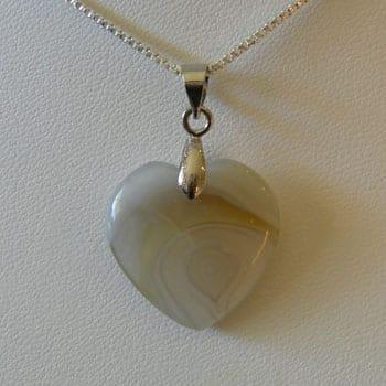 Light Botswana Semi Precious Gemstone Pendant W/Hook - (20mm) 6