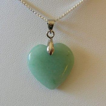 Green Aventurine Semi Precious Gemstone Pendant W/Hook - (20mm) 5