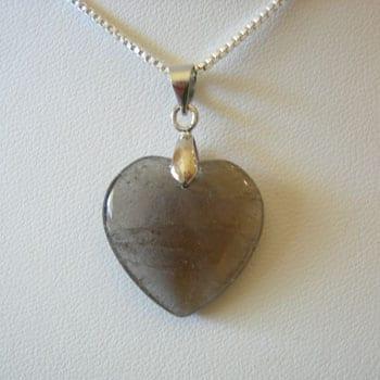 Smoky Quartz Semi Precious Gemstone Pendant W/Hook - (20mm) 11