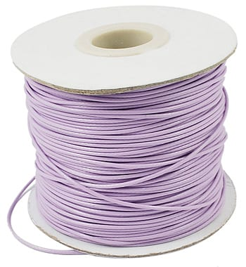 2 Meter Light Purple Cotton Waxed Wire (1mm) 11